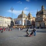 Rome - Popolo fyrkant Arkivbild