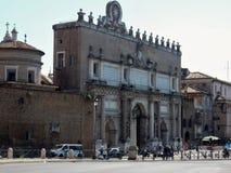 Rome - Portaen del Popolo Arkivfoton