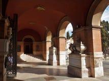 Rome - portik av tillträde till Verano Royaltyfri Foto