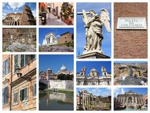 Rome postcard Stock Images