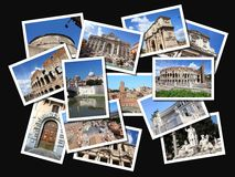 Rome postcards Royalty Free Stock Images