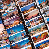 Rome postcards. Assorted Rome postcards on sale in a touristic spot, Italy Royalty Free Stock Images