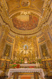 Rome - presbyteriet i kyrkliga Chiesa di Santa Maria della Vittoria Royaltyfri Foto