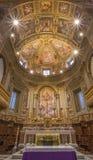 Rome - The presbytery of church Chiesa San Marcello al Corso with fresco by Francesco Salviati (1563). Royalty Free Stock Photo