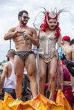 Rome Pride 2015 - Gay Pride Italy - Attraction on parade float Royalty Free Stock Image