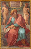 Rome - The prophet Ezekiel fresco in Basilica di Sant Agostino (Augustine) by  Pietro Gagliardi form 19. cent. Stock Photography