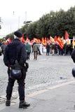 Rome, protesten tegen de overheid Royalty-vrije Stock Afbeelding