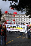 Rome, protests against the government Royalty Free Stock Photography