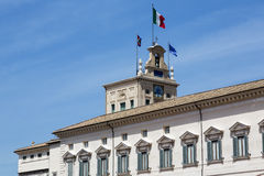 Rome, the Quirinal Palace, the official residence of the Preside Royalty Free Stock Photos