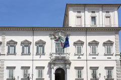Rome, the Quirinal Palace, the official residence of the Preside. Nts of the Italian Republic stock images