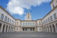 Rome Quirinale binnen hofmening Royalty-vrije Stock Foto's