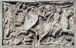 Rome - relief from constantine triumph arch Stock Images
