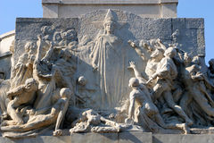 Rome - relief from Monument to Giuseppe Mazzini Royalty Free Stock Photo
