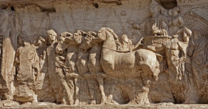 Rome - relief from Titus triumph arch Royalty Free Stock Image