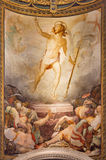 Rome -  The Resurrection fresco in church Santa Maria dell Anima by Francesco Salviati from 16. cent. Stock Images