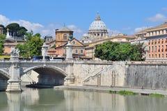 Rome. River Tiber embankment Stock Photo