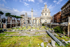Rome and the Roman Forum Stock Image