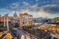 Rome Roman Forum Royaltyfri Foto