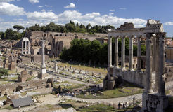 Rome - Roman Forum - Italy. The Roman Forum in the city of Rome in Italy Royalty Free Stock Photography