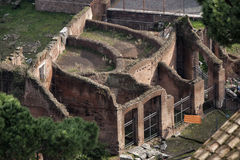 Rome, the Roman forum. Old ruin. Aerial view Royalty Free Stock Image