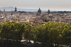 Rome. Roman landscape from S. Angelo castle Royalty Free Stock Image