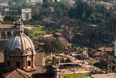 Rome romerskt fora Arkivbilder