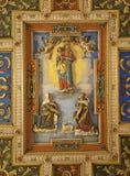 Rome - roof of church Santa Francesca Romana Royalty Free Stock Images