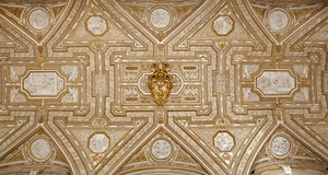 Rome - Roof of vestibule from st. Peter s basilica Royalty Free Stock Images
