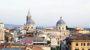 Rome roof view Royalty Free Stock Photography