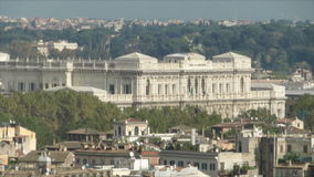 Rome roofs. Domes and roofs in Rome, Italy stock video footage
