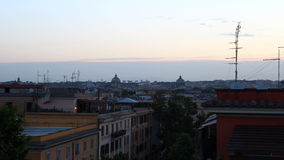 Rome roofs stock video footage