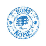 rome rubber stämpel stock illustrationer