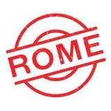 Rome rubber stamp. Grunge design with dust scratches. Effects can be easily removed for a clean, crisp look. Color is easily changed Stock Photos