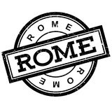 Rome rubber stamp. Grunge design with dust scratches. Effects can be easily removed for a clean, crisp look. Color is easily changed Royalty Free Stock Image