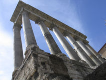Rome: The ruins of the ancient roman forum. The Roman Forum in Rome, Italy royalty free stock photos