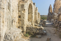 Rome ruins in Antalya Stock Photography