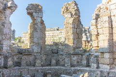 Rome ruins in Antalya Stock Image