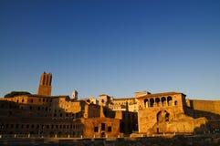 Rome ruins Foro Di Traiano Stock Photo