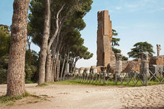 Rome - ruins of palatine hill Stock Image
