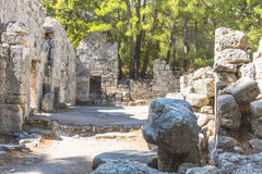 Rome ruins in Phaselis Stock Photos