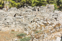Rome ruins in Phaselis Stock Photography