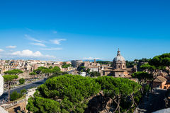 Rome's landscape. Landscape of Rome on a sunny bright day Stock Photography