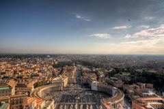 Rome from S.Pietro's dome Stock Photo