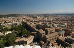 Rome`s view from the Dome of St. Peter's Basilica. Vatican museums. Italy Royalty Free Stock Photos