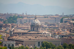 Rome's View from Gianicolo. Rome's Panorama View from Gianicolo Stock Photography