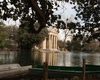 Leisure lake at Giardino del Lago at Villa Borghese in Rome Ital. Rome`s Villa Borghese park contains a small artificial lake, known as the laghetto, where Stock Image