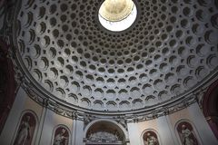 Rome, San Bernardo alle terme, dome of the church royalty free stock image