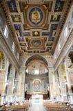 Rome. San Marcello church. Frescoed dome Royalty Free Stock Photography