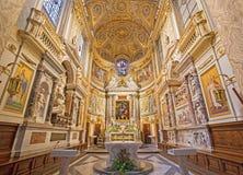 Rome - The sanctuary in church Santa Maria dell Anima. Royalty Free Stock Photos