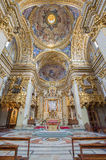 Rome - The sanctuary and cupola of baroque church Chiesa Nuova. Stock Images